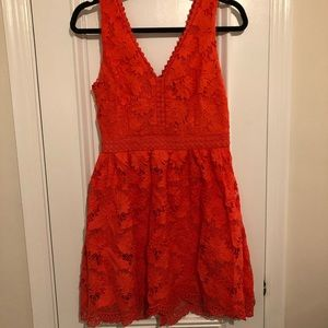 ModCloth coral lace dress- S